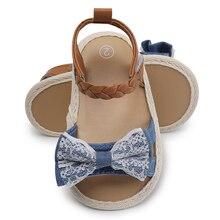 7c5cdcc5e55bc Bébé Fille Sandales D été Bébé Fille Chaussures Coton Toile Pointillé Arc  Bébé Fille Sandales Nouveau-Né Bébé Chaussures Playtod.