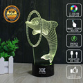Dolphin Lamp Shark 3D Lamp USB Novelty Night Light Holiday Lights Glowing Children Christmas Gift HUI YUAN Brand