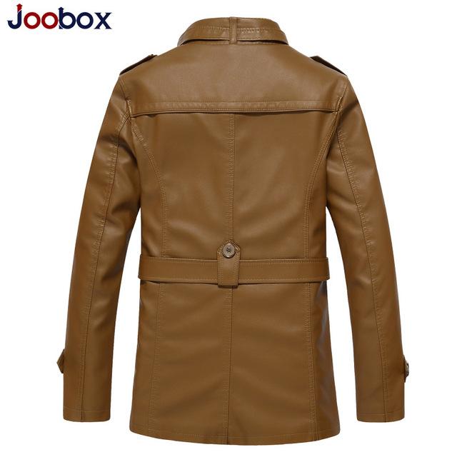 JOOBOX 2018 New Winter Leather Jacket Men Waterproof Fleece Warm male leather Jacket High Quality Coats Motorcycles Jackets