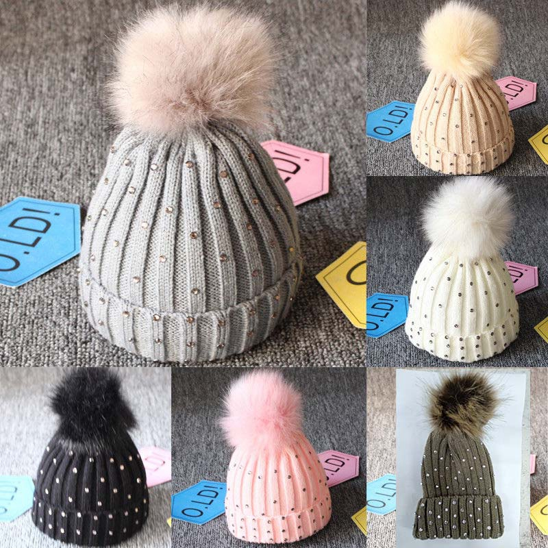 Children Sportswear & Accessories Beautiful Newborn Kids Baby Pom Hat Winter Warm Crochet Knit Bobble Beanie Cap