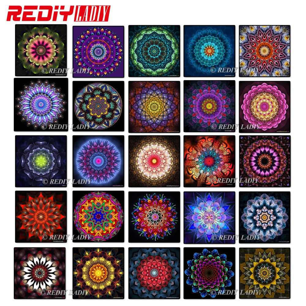 REDIY LADIY Diamond Mosaic Diamond Painting Cross Stitch Kits Mandala Pattern Diamonds Embroidery Square Drill Home Decoration