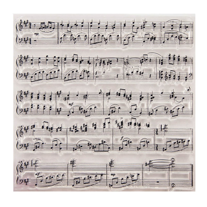 Funny Music Score Transparent Clear Silicone Stamps Template For Scrapbooking Photo Album Decor Stationery Set