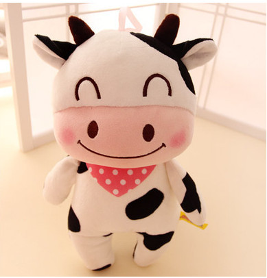 Happy Farm Animal Rabbit Plush Pillow Cow Stuffed Animal Doll Frog
