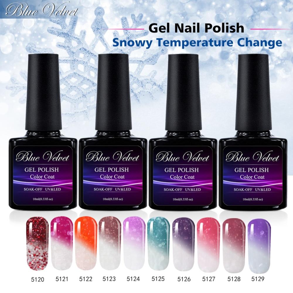 Blue Velvet 10ml Soak Off UV Gel Snowy Temperature Change
