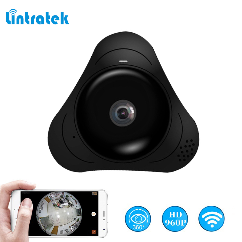 lintratek Surveillance Camera 960P 360 degree Wireless Security Camera mini IP wifi Panoramic VR Camera wi-fi 3D fisheye IP Cam vr360 panoramic camera wi fi remote control sports action camera