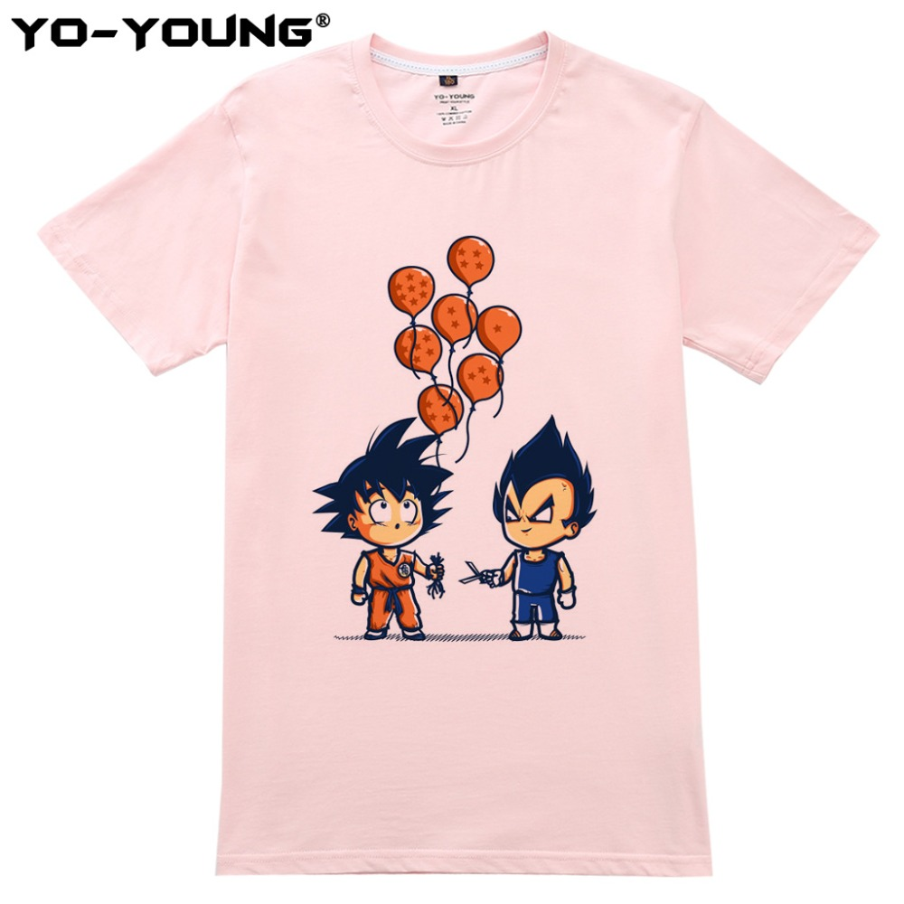 Nyaste Anime Dragon Ball Printing Men T-shirts Goku Vegeta Funny - Herrkläder - Foto 3