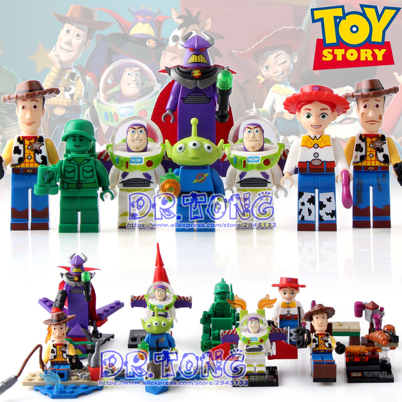 DR.TONG 2017 NEW Toy Story SY661 Buzz Light-year Woody Emperor Zurg Squeezy Aliens Building Blocks Bricks Toys Children Gifts сумка emperor mk20380 2014