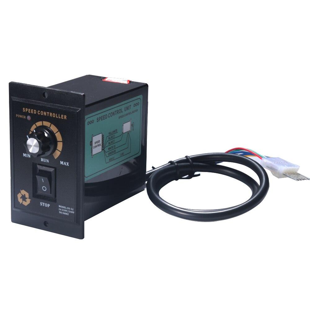 1 piezas controlador de velocidad de Motor de CA 400 W AC 220 V controlador de regulador de velocidad de Motor