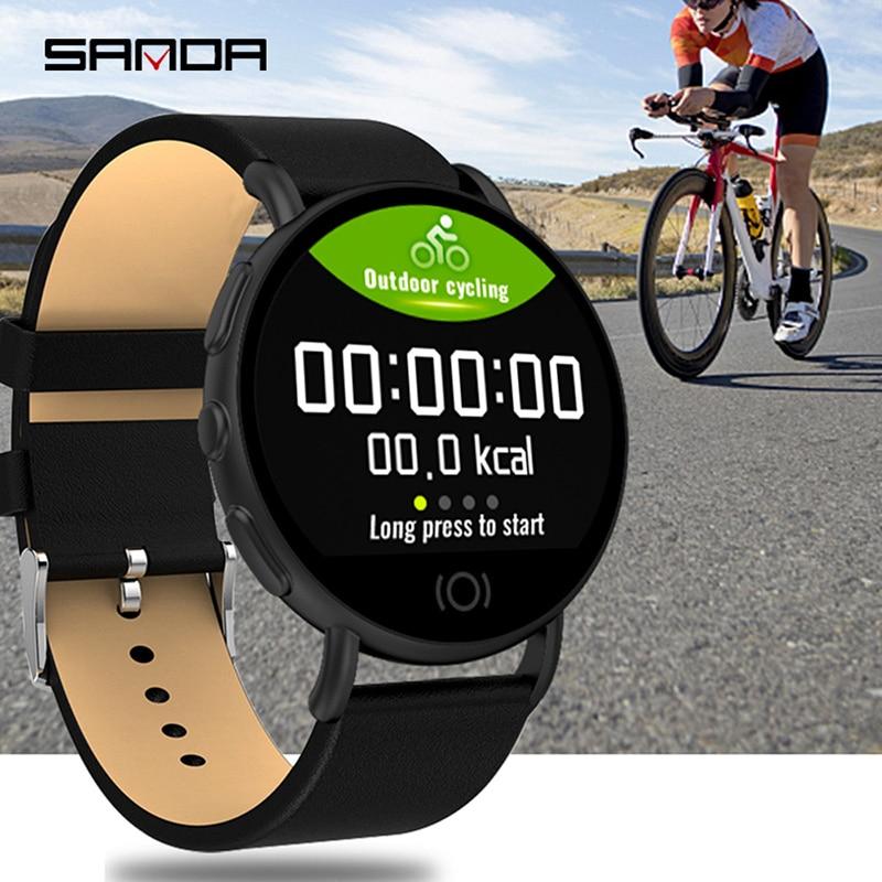 Montre intelligente élégante IP67 étanche sang oxygène moniteur de fréquence cardiaque Messages rappel mode Sport Smartwatch pour IOS Android
