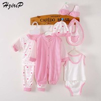 8 Peças Presente Do Bebê Recém-nascido Definir Roupas Unisex Baby Girl Roupas de Bebê Menino Roupas Soft 100% Algodão Crianças Vestuário Infantil conjuntos
