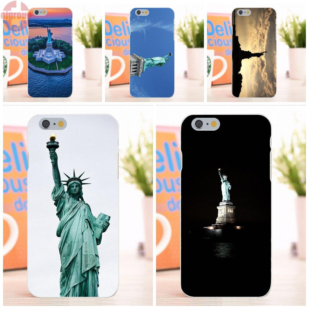 EJGROUP For Apple iPhone 6 6S 4.7 inch Soft TPU Silicon Skin Painting New York City Ny Statue Of Liberty