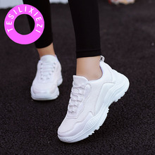 hot deal buy 2018 new fashion women shoes ladies casual shoes high platform female sport sneakers big size vulcanize shoes zapatos de mujer