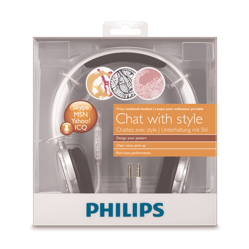 Philips SHM7110U Professional Stereo Headphone 2 Meters Long Line With Microphone For Samsung Xiaomi Smartphone