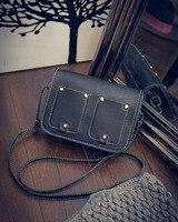 Manufacturers wholesale 2016 Korean new handbags retro double pocket diagonal shoulder bag diagonal fashion small bag