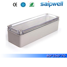 2015 hot sale ip66 small types weatherproof electrical junction boxes with transparent cover 80*250*70mm High quality DS-AT-0825