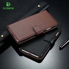 FLOVEME Luxury Retro Real PU Leather Case for iPhone 5 5S SE Accessories Vintage Wallet Stand Flip Cover for iPhone 5 5s Case