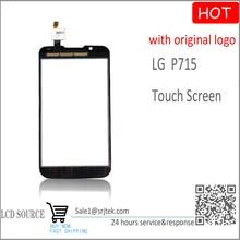 For LG Optimus L7 2 II Dual P715 Touch Screen Digitizer Sensors Black Replacement parts for LG P715 glass +Original LOGO