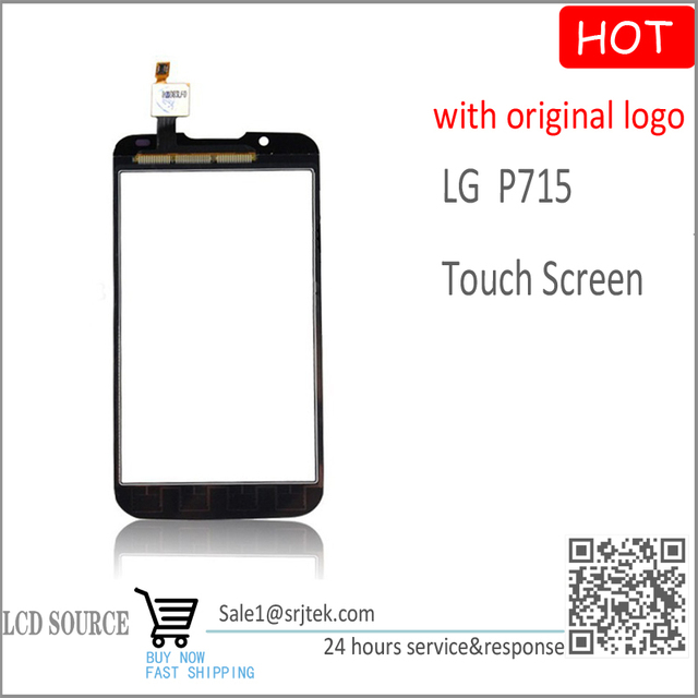 For LG Optimus L7 2 II Dual P715 Touch Screen Digitizer Sensors Black Replacement parts for LG P715 glass +Original LOGO