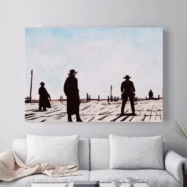Once Upon A Time In The West Canvas Art Print Painting Poster Wall Pictures For Living Room Home Decoration Decor No Frame