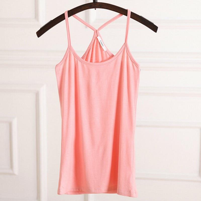 2019Nová móda Ženy Modální tílka Košile solidní cukroví 6 barevných dámských camis sexy žena šifon volný top Košile opatství svítání