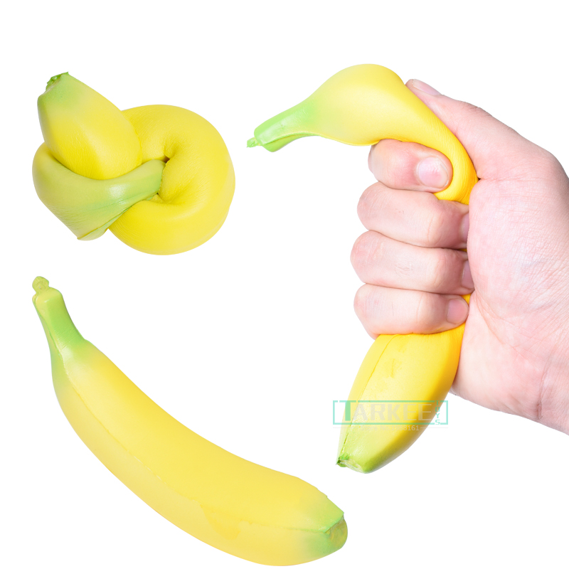 Squishy Banana Stress Reliever Ball Squeeze Stressball Fun Gift Novelty Gag Stre