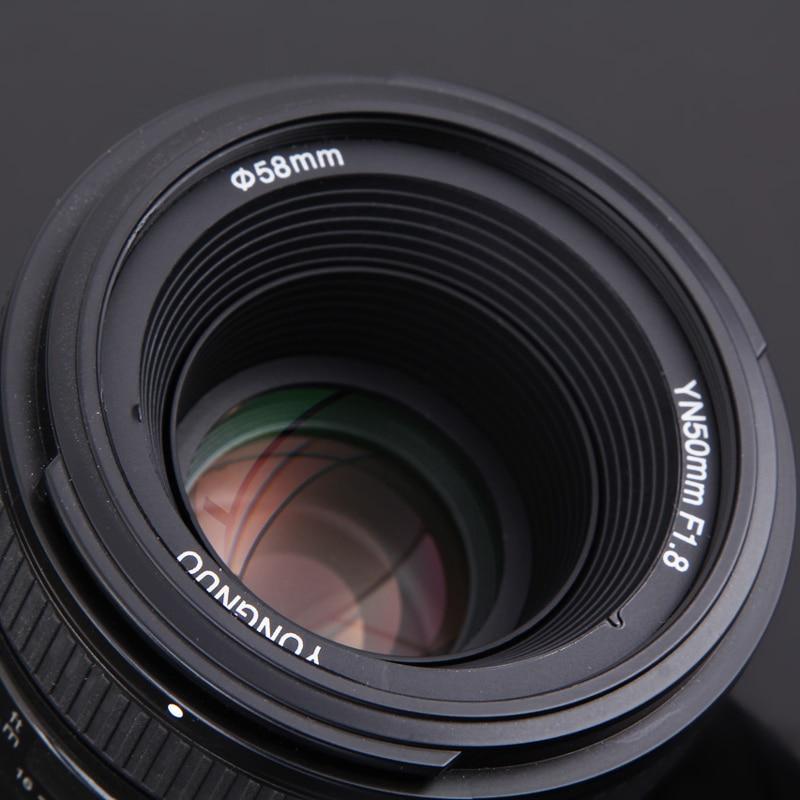YONGNUO YN50mm F1.8 objectif de mise au point automatique à grande ouverture pour Nikon D800 D300 D700 D3200 D3300 D5100 D5200 D5300 objectif d'appareil photo reflex numérique