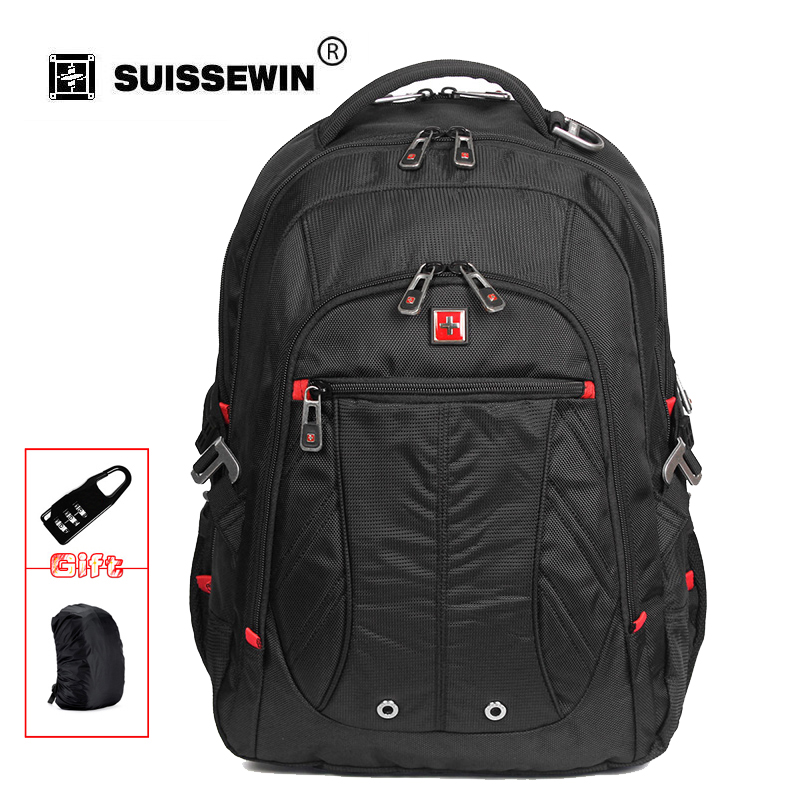 fashion Swissgear brand Swisswin Laptop Backpack Waterproof Business Traveler Backpack Men Daily Backpack Mochila SW8110I