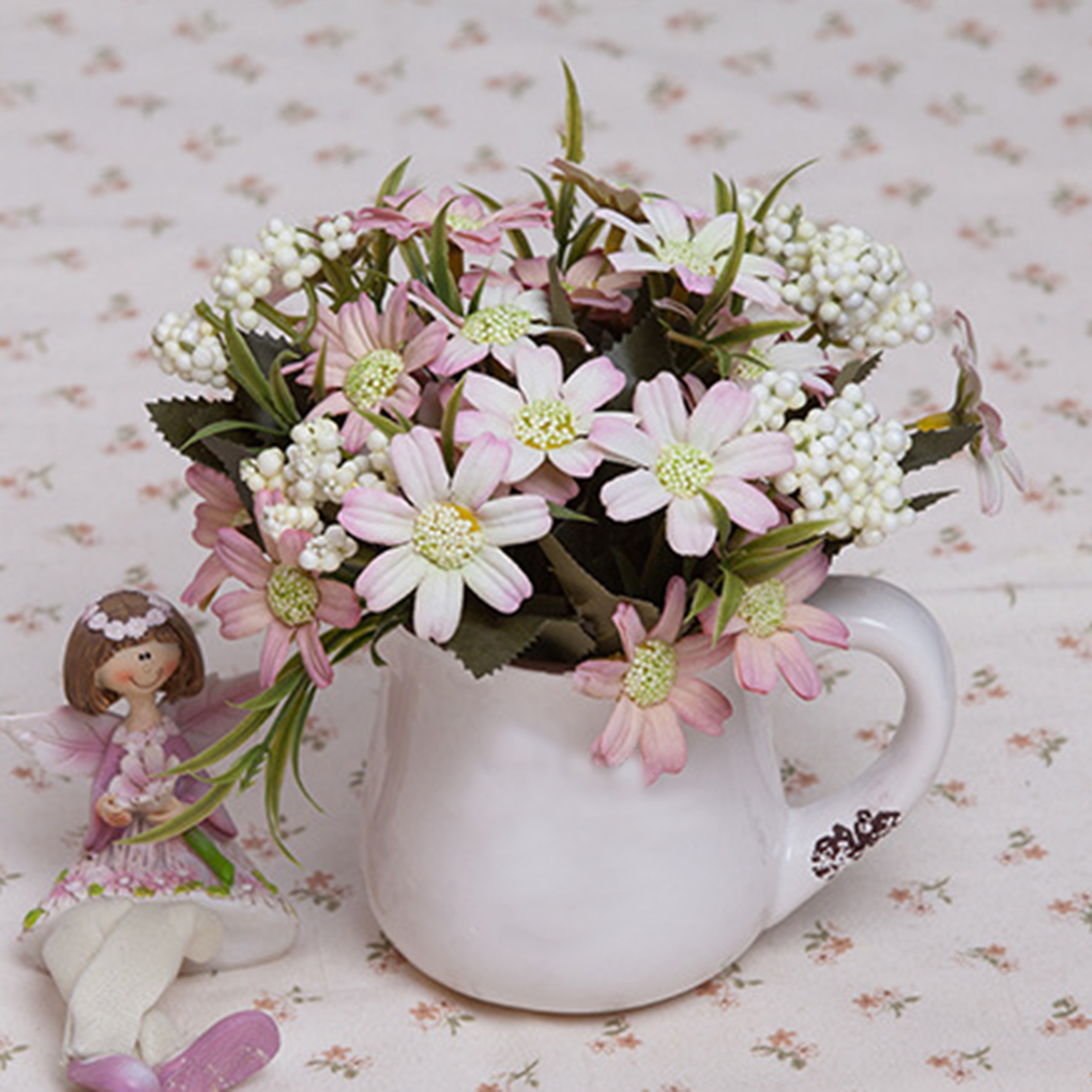 Online get cheap fake daisy flowers aliexpress alibaba group artistic artificial oil chrysanthemum silk flower bouquet fake daisy flower wedding home decorationchina dhlflorist Gallery