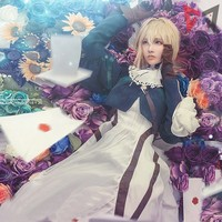 Mmgg 2018 Japonais Anime Violet Evergarden Femmes Cosplay Costume Ensemble Complet custom made Robe Haute Qualité
