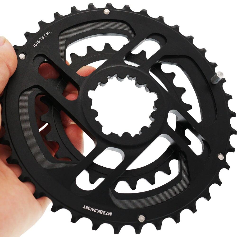 Mountain bike Road Bicycle Full CNC 24T 38T Gear 10s 11s Chainwheel GXP SRAM Crankset Crank