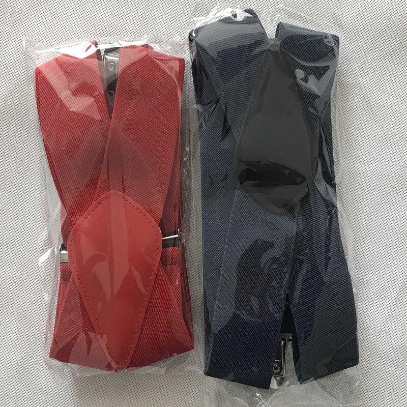 Braces Suspenders Elastic Adjustable Heavy-Duty Black Mens 50mm Red Grey Wide X-Back
