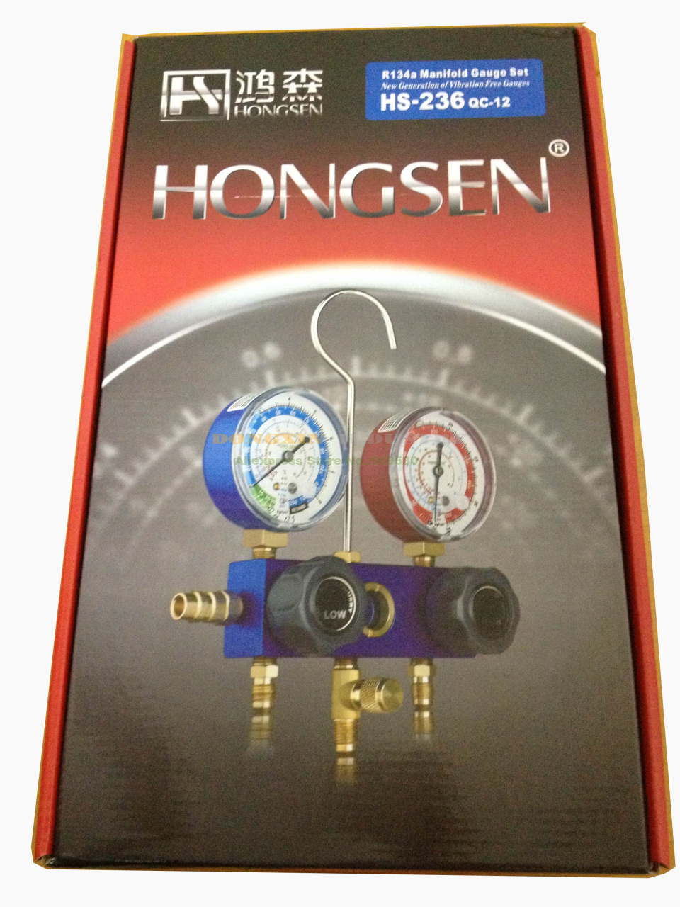 HS-236 Automobile R134A Refrigeration Charging Aluminum Body Manifold Gauge Set With Quick Adaptor and Hose  цены