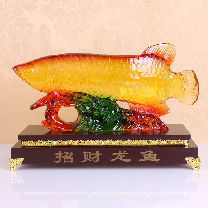 wholesale cheap Resin crafts glass imitation high-grade decoration Lucky Dragon Fish FF201 largewholesale cheap Resin crafts glass imitation high-grade decoration Lucky Dragon Fish FF201 large