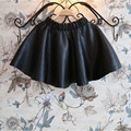 Cute 2-10T winter thicken girls tutu skirt children girl PU leather skirt skirts for kids toddler girl clothing  2017