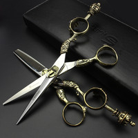 6 inch hair scissors set hairdressing tool professional barber kit hair cutting for hairdresser to make coiffure free shipping