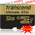 Super speed Genuine capacity Transcend Micro sd card 633X 32gb MicroSDHC Card 95MB/S Class10 UHS-I U3 memory card 32GB tf card