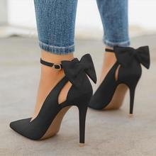 2019 New women high heels bow pumps sexy stiletto pointed to