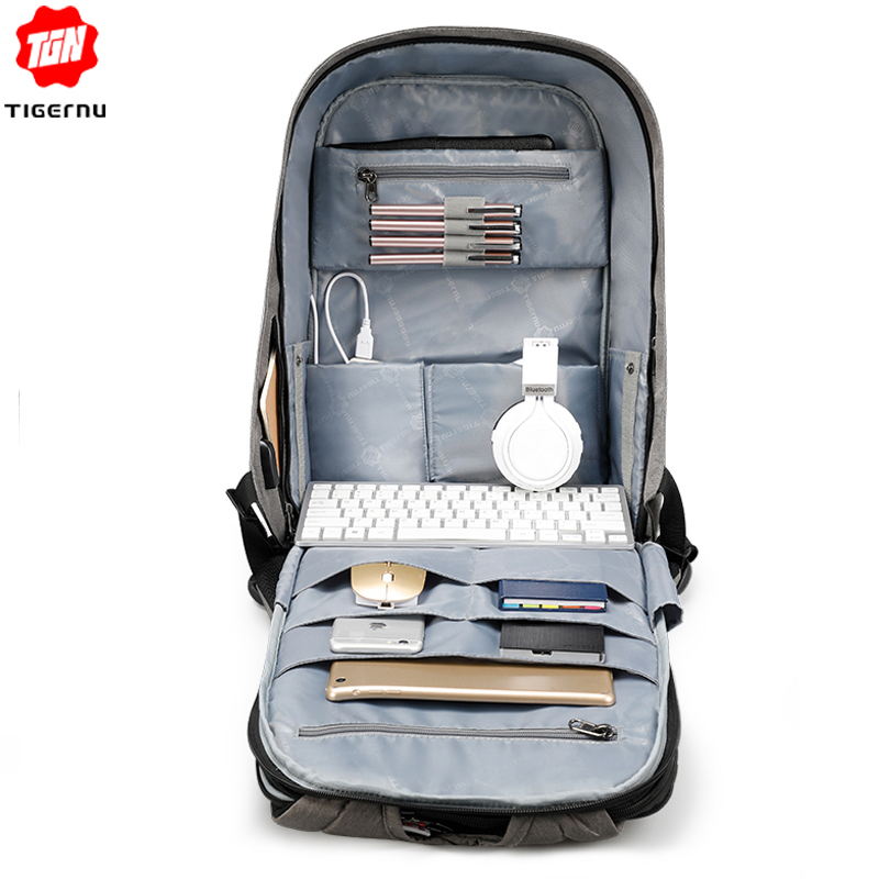 Tigernu Anti theft 15 6inch Laptop Backpack Men Women USB Backpack Male Mochila School Bags for