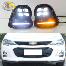 For Chevrolet Cavalier 2016 2017 2018 Daytime Running Lights Turn Signal Fog Lamp Cover 12V ABS LED DRL Car Styling все цены