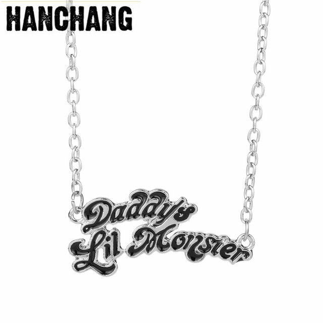 Name necklace jewelry suicide squads jewellery harley quinn name necklace jewelry suicide squads jewellery harley quinn necklaces daddys lil monster clown pendant necklace logo aloadofball Gallery