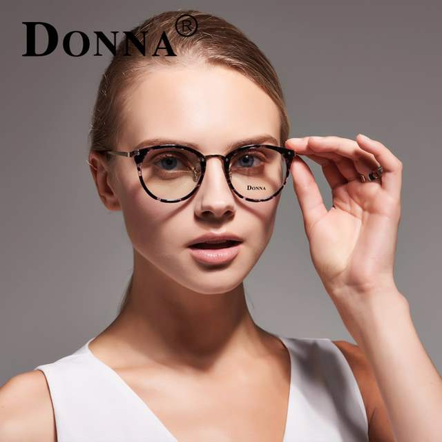 cba7ea4a0fc placeholder Donna Fashion Reading Eyeglasses Optical Glasses Frames Glasses  Women New Cat Eye Frame Ultra Light Frame