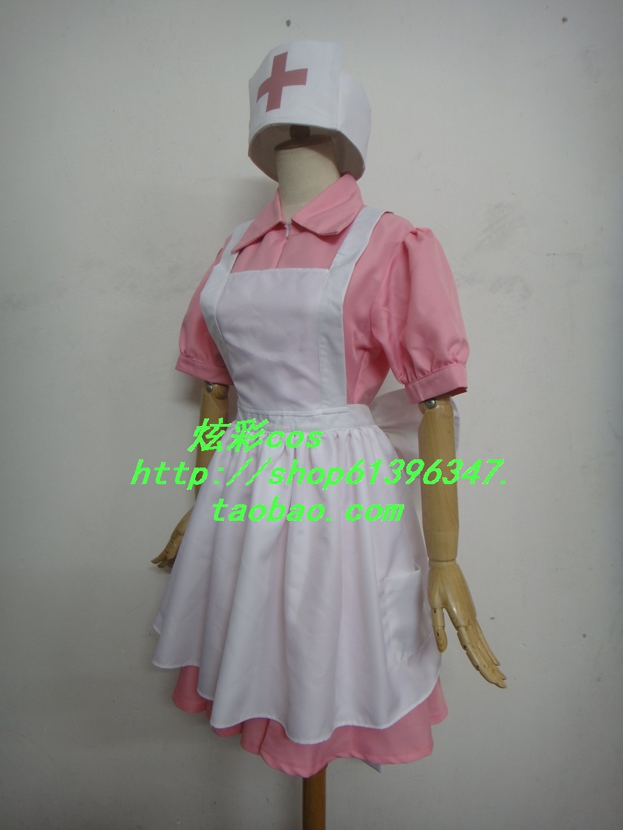 Pokemon Pocket Monsters Perawat Joy Cosplay Costume Dress + apron + - Kostum - Foto 3