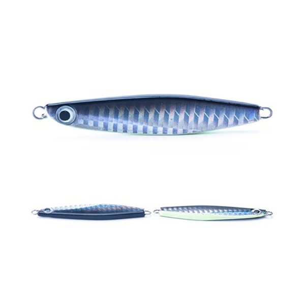 MMFC-10 pcs Noctilucent Fishing Lure Jig 22g 70mm Knife Jigging Seawater Spoon VIB Artificial Bait Boat Fishing Jigs Lures Har