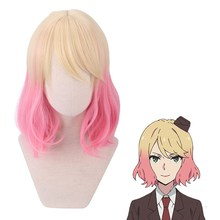 Halloween New Anime Angels of Death Catherine Ward Cosplay Gradual Color Short Wig