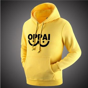 2016 Anime One Punch Man Hero Saitama Oppai Hoodies Halloween Cosplay Costume Hoodie Jacket Sweatshirts Men Women Plus Size 1