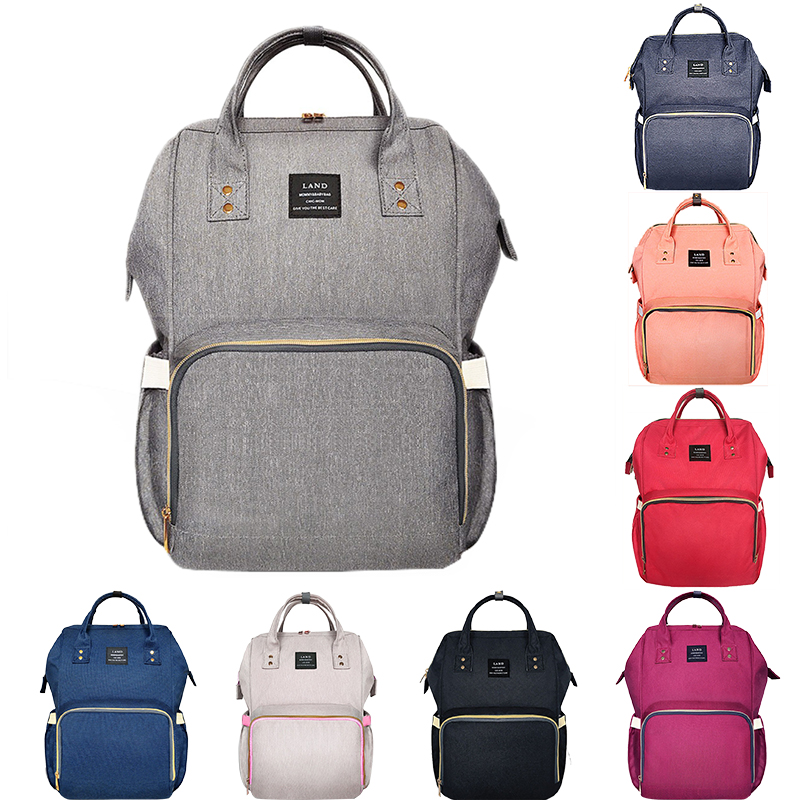Us 25 47 35 Off Land Mommy Diaper Bag Large Capacity Baby Ny Bags Desiger Nursing Fashion Travel Backpack Care Bebek For Mom Dad In