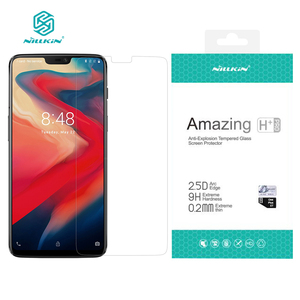 Image 1 - oneplus 6 Screen Protector NILLKIN Amazing H / H+PRO 9H Tempered Glass For one plus 6 screen protector oneplus 6 glass 6.28 inch