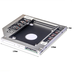 Image 2 - Bevigac 2.5 بوصة 2nd القرص الصلب SSD محرك الأقراص الصلبة العلبة محول خليج 9.5 مللي متر SATA إلى SATA ل CD ROM HP ديل أيسر BenQ ASUS لينوفو المحمول