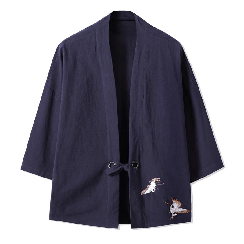 Kimonostoff high-class material leaves wool fabric last piece 220 cm elegant Japanese fabric greenolive greengrey bamboo leaves