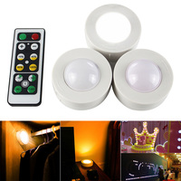 6 Pcs Wireless LED Closet Lights with Remote Control Pat Light for Kitchen Under Cabinet Night Lamp CLH@8